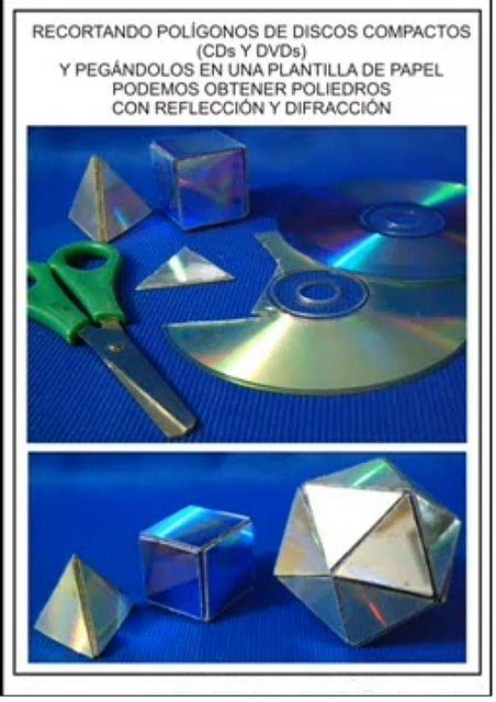 Solidos Platonicos hechos con CD y DVD. by El Mundo de los Poliedros y el material de desecho, via Flickr