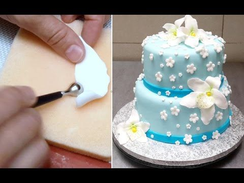 FONDANT EDIBLE ORCHIDS How To by CakesStepbyStep - YouTube