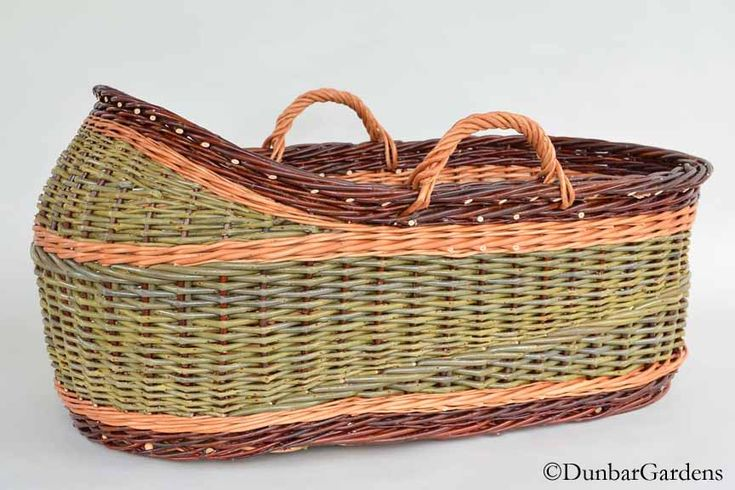 How To Weave A Moses Basket : Willow bassinet made by katherine lewis often called a