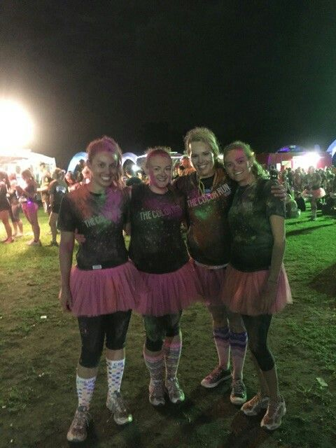 Mission accomplished finished Colour Run. Let's party time after party.