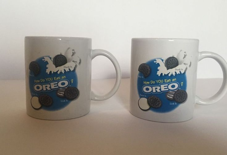 NABISCO OREO COOKIE COLLECTIBLE COFFEE MUGS /SET OF TWO