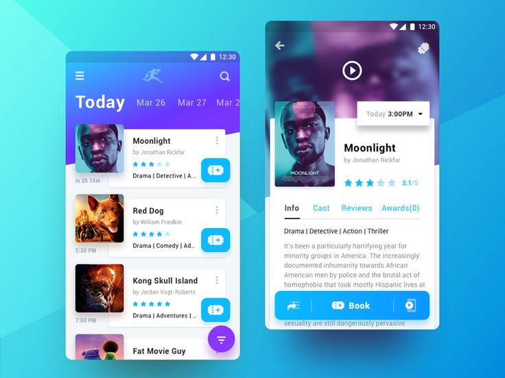Hi dear dribbblers,  Here's the first piece from the project i had a blast working on. It's a mobile application for annual Cinema Festival Club.   Application and its iterations aid in the promoti...