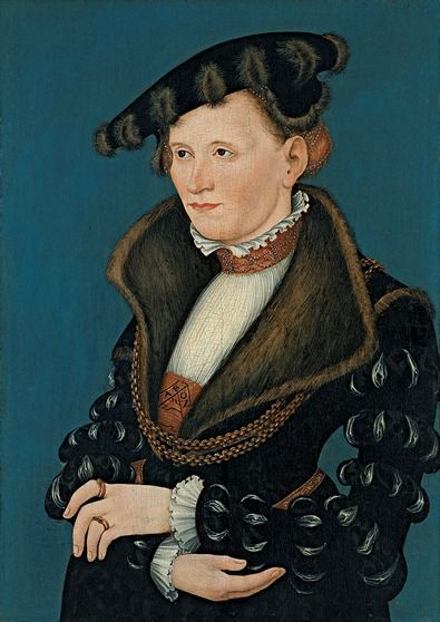 Portrait of a Lady by Lucas Cranach the Younger,1539