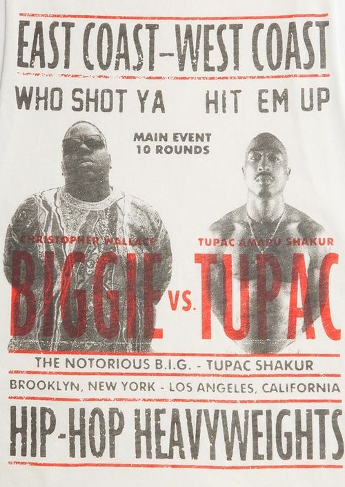 "East Coast Vs West Coast supposed ""Beef"" real or not cost the the Hip-Hop World their 2 real Rap Kings! Still hurts it till this day!! For example ""The Tupac still alive in 2014! Really WACK!"