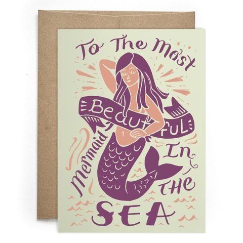 Most Beautiful Mermaid Card