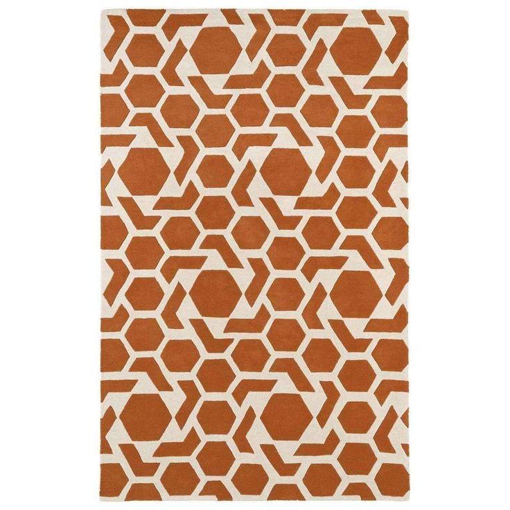 Revolution REV05-89 Orange/Ivory Modern Rug