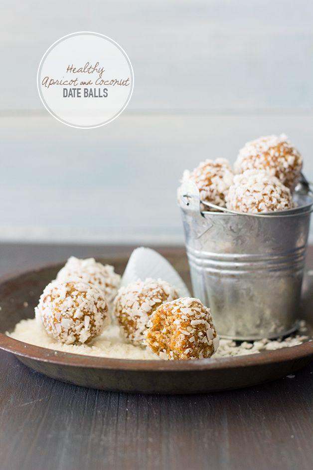Healthy Apricot & Coconut Date Balls