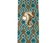 FLOR AMAZONA La Pacifica teal Bracelet - 40 hours of  intricate handcraft.