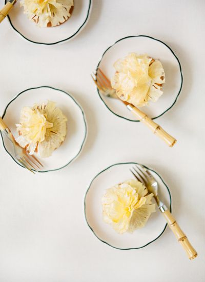 Miniature pineapple cakes by PPHG for your wedding reception | Petite desserts for your wedding day | Southern wedding inspiration | The William Aiken House in Charleston, South Carolina | Photo by KT Merry