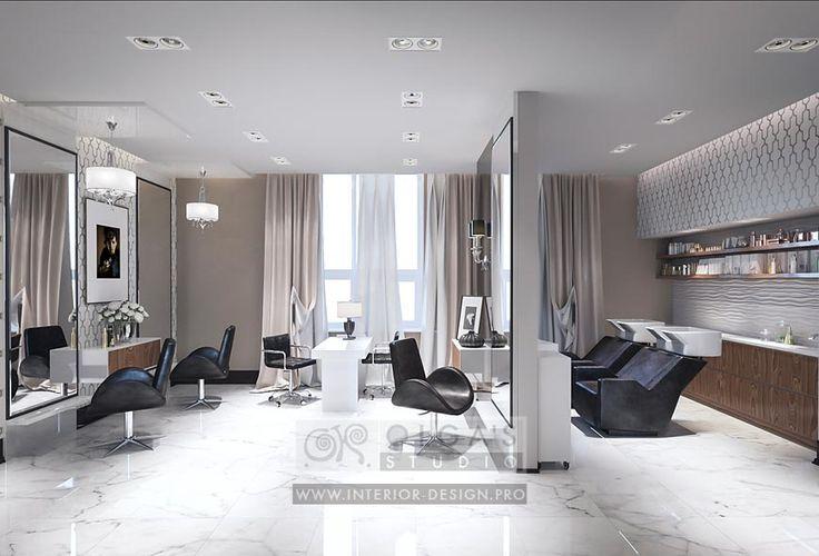 Beauty Spa Salon Styling Area Design Idea http://interior-design.pro/ru/dizayn-salonov-krasoty-photo-interyerov