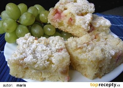 Rebarborový koláč recept - TopRecepty.cz