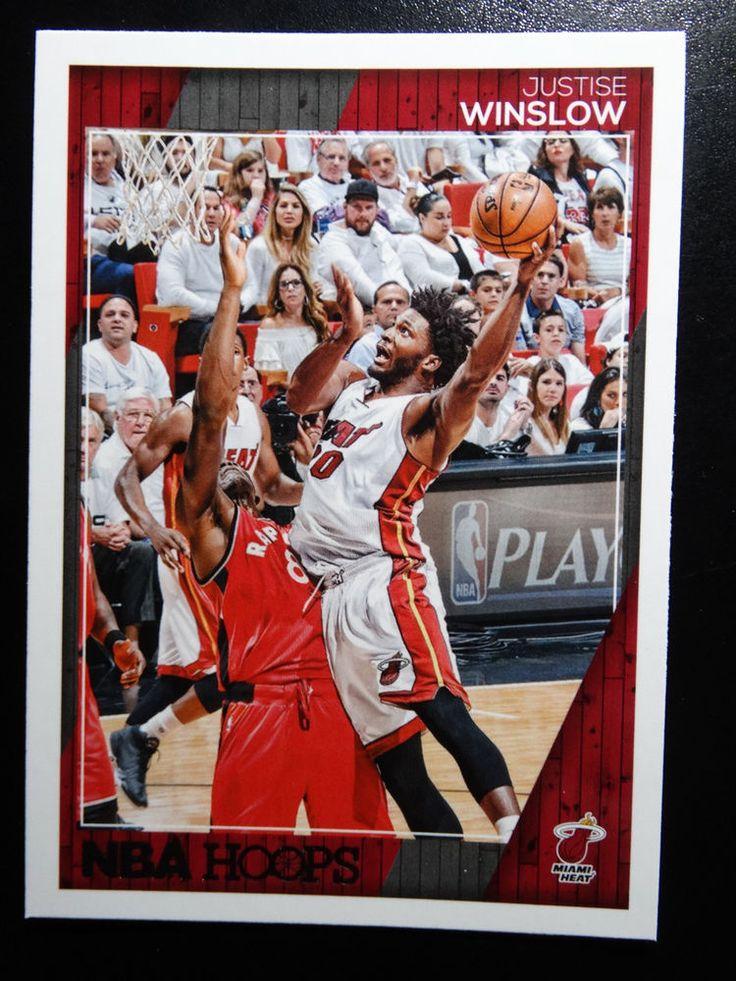 2016-17 Panini Hoops #159 Justise Winslow Miami Heat Basketball Card #MiamiHeat