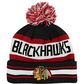 Chicago Blackhawks. I really love poof ball winter hats!