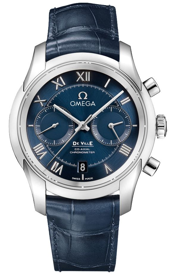 431.13.42.51.03.001  NEW OMEGA DEVILLE CO-AXIAL CHRONOGRAPH MENS LUXURY WATCH     Usually ships within 8 weeks - Click to view IN STOCK Luxury Watch Sale - FREE Overnight Shipping - NO SALES TAX (Outside California)- WITH MANUFACTURER SERIAL NUMBERS- Blue Dial - Chronograph and Date Features - Self Winding Automatic Column Wheel
