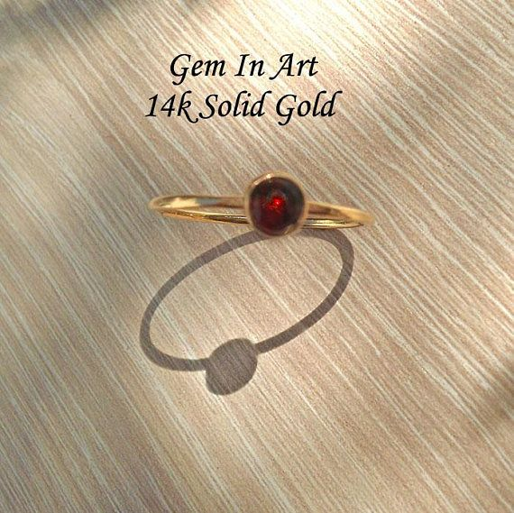 14K Solid Gold Stacking RingSolid Gold Dainty Ring14K Gold