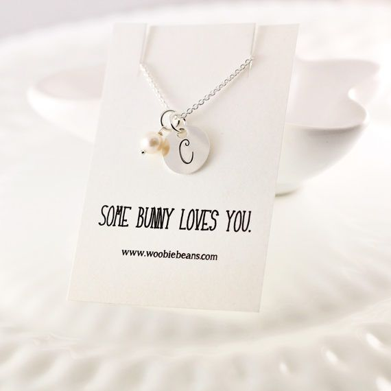 Sterling silver initial necklace  Small letter necklace