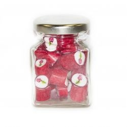 Valentines Deluxe Jar red cute big jar annivsart words i love you thank you hearts thoughtful eatible cheap