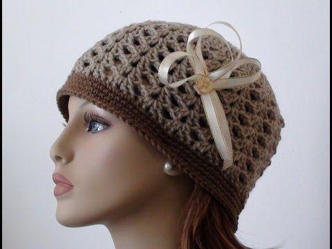 Crochet Shell Beanie Youtube Free Crochet Women S Hat