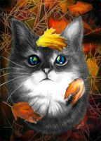 Autumn Cat by Yankeestyle94