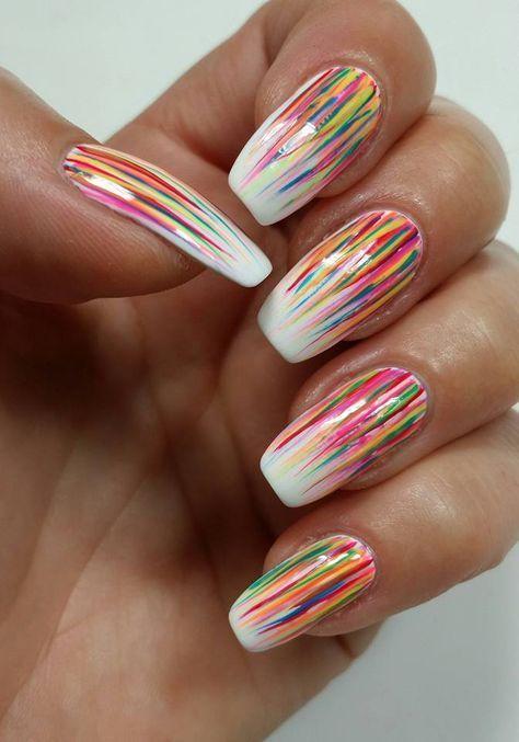 Easy Cool Summer Nail Art Nails Pinterest Summer Nail Art La