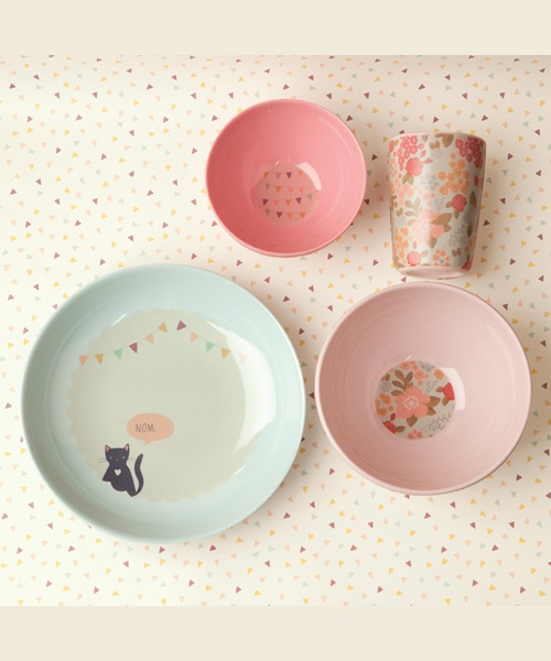 kids dinner set - well fed kitty & 195 best Tableware images on Pinterest | Dish sets Dishes and Child ...