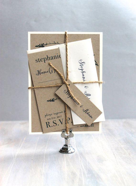 Rustic Wedding Invitations,