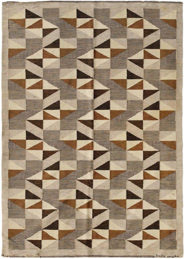 midcenturia: Mid-Century Swedish kilim by Brita Grahn. via Nazmiyal Collection                                                                                                                                                      Plus