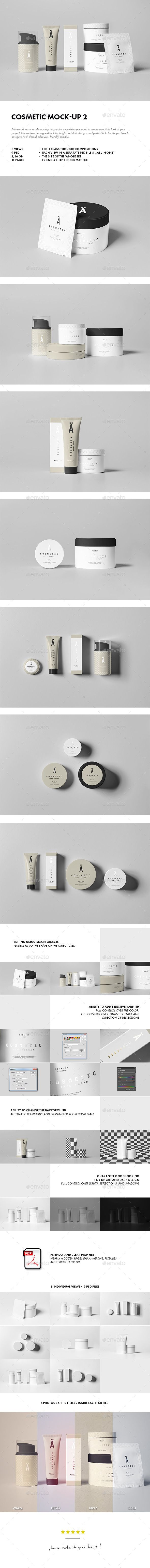 Cosmetic Mock-up 2 - Beauty Packaging #psd #mockup #cosmetics #packaging #beauty #makeup #retail