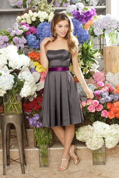 Bridesmaid Dress Idea. Sans that hideous Barney belt:)