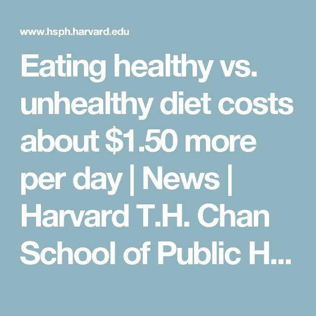 Eating healthy vs. unhealthy diet costs about $1.50 more per day | News | Harvard T.H. Chan School of Public Health