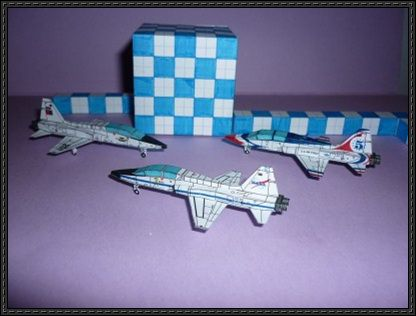 Mini Northrop T-38 Talon Free Aircraft Paper Model Download - http://www.papercraftsquare.com/mini-northrop-t-38-talon-free-aircraft-paper-model-download.html