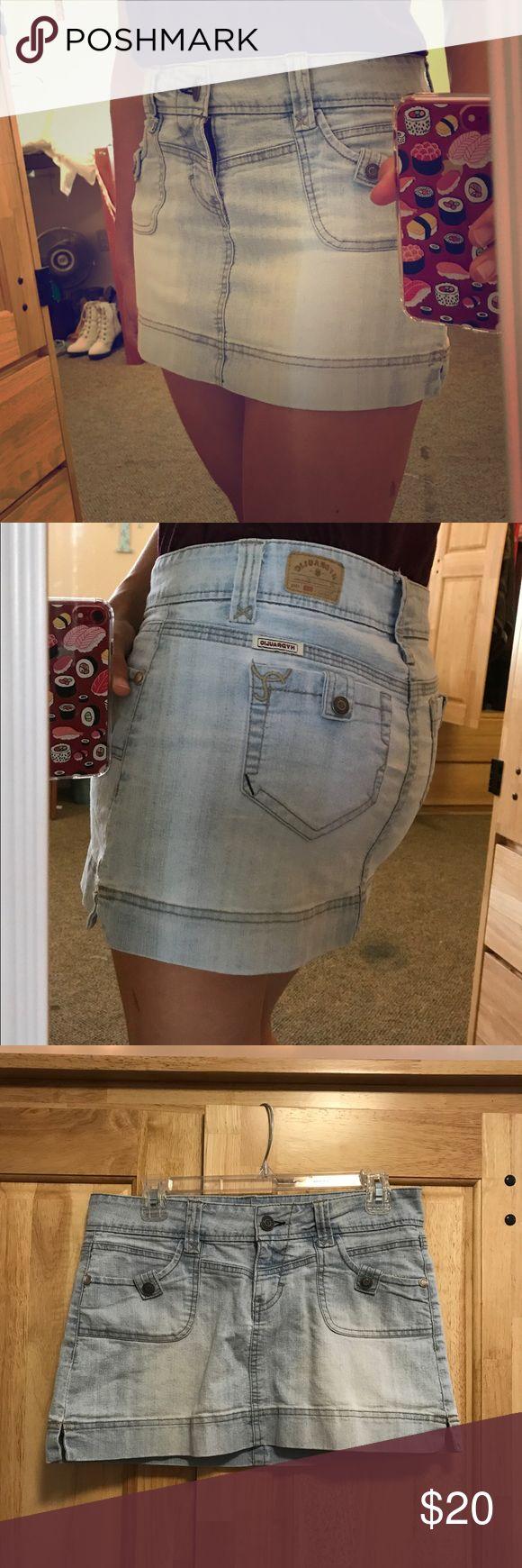 Hydraulic jean mini skirt Cute and comfy! A little stretchy Hydraulic Skirts Mini