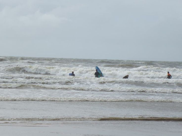 Great waves for surfing at Saunton Sands in August