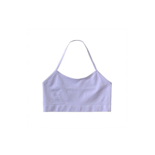 Halta Sports Crop ($10) ❤ liked on Polyvore featuring tops, crop tops, shirts, bras, white top, white crop top, white shirt, shirt tops and sport crop top