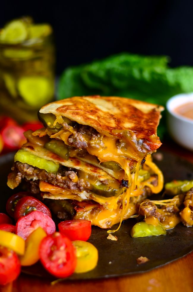 Yammie's Noshery: Cheeseburger Quesadillas