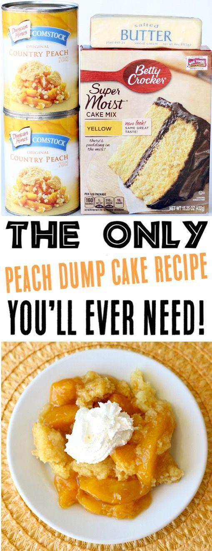 Pfirsich Dump Cake Rezepte