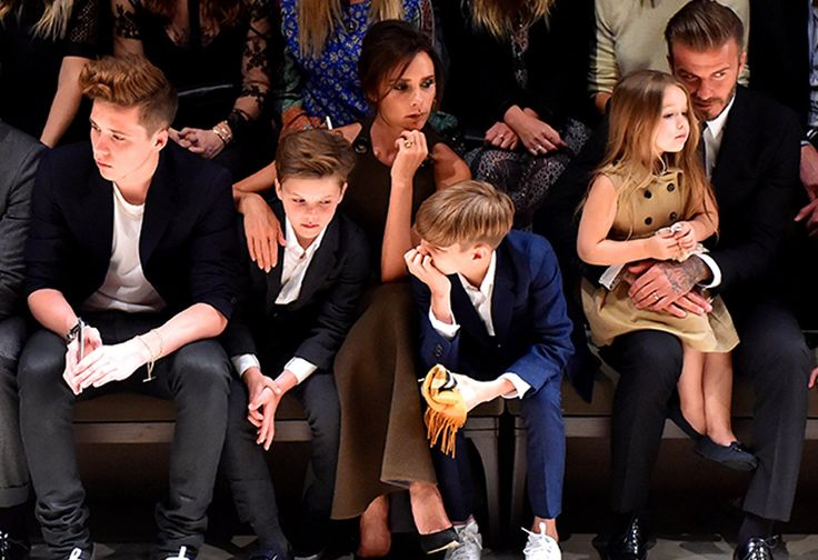 April 16, 2015 This stylish handsome family, the Beckhams
