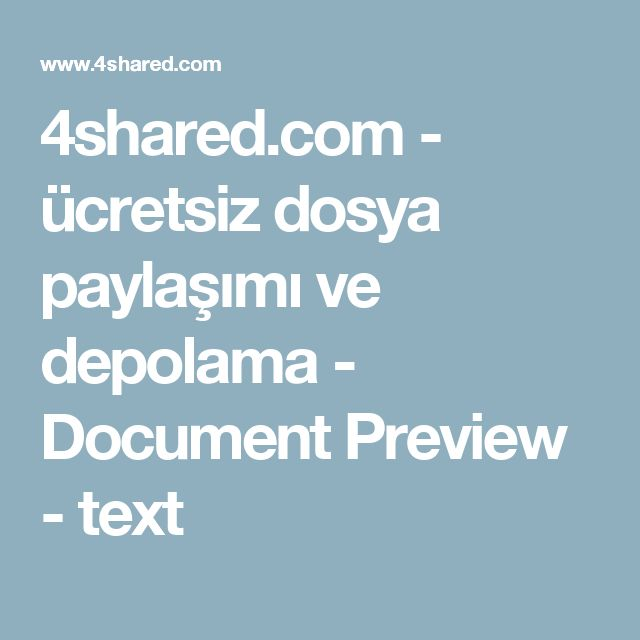 4shared.com - ücretsiz dosya paylaşımı ve depolama - Document Preview - text
