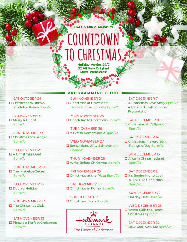 Hallmark Christmas Movies 2019 Checklist Hallmark Christmas Movies Christmas Movies Hallmark Christmas Movies List