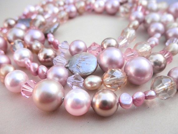 Pink pearls.......Magnificent Pink Pearls!!!......