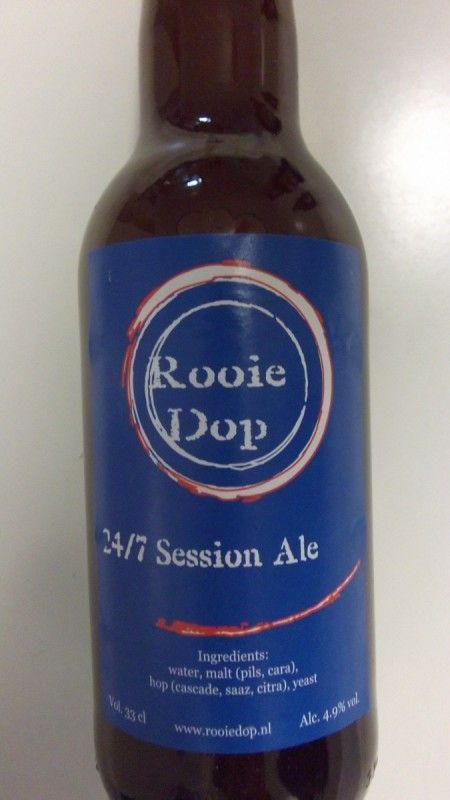 Cerveja Rooie Dop 24/7 Session Ale, estilo American Pale Ale, produzida por Rooie Dop, Holanda. 4.9% ABV de álcool.