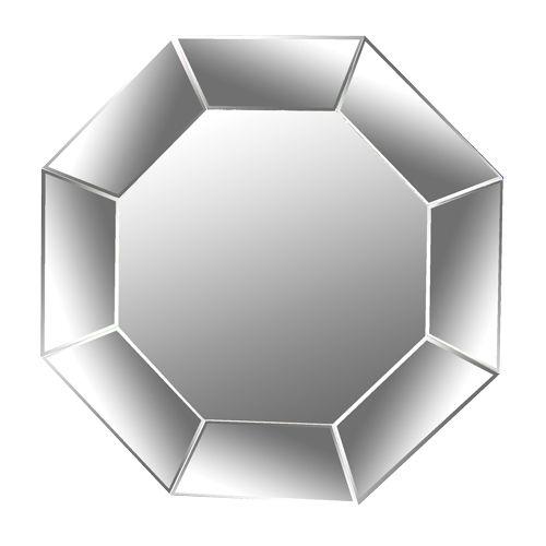 Venetian Mirror frameless hexagon shape quite simple in design but creates an absolutely stunning mirror