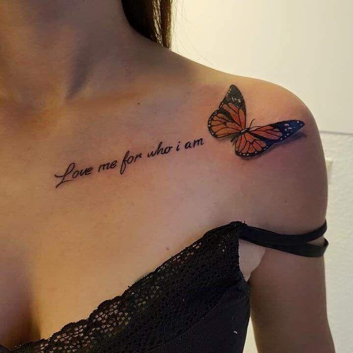Butterfly Tattoo On Collarbone Collar Bone Tattoo Butterfly Tattoo Designs Butterfly Tattoo