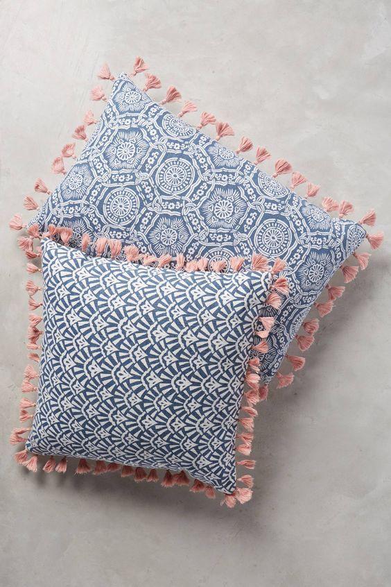 Folding fan throw pillow