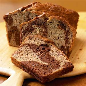Marbled Chocolate 'Nana Bread!: Chocolates Chips, Bananas Breads Recipes, Cooking Lights, Marbles Chocolates Bananas, Chocolates Bananas Breads, Favorite Recipes, Breakfast Recipes, Peanut Butter, Bananas Cakes