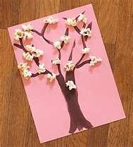 Spring blossom popcorn tree