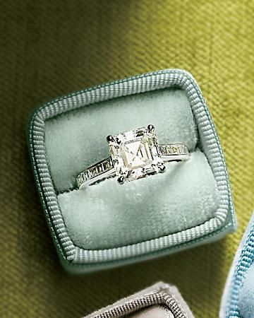 Tiffany's princess-cut engagement diamond.