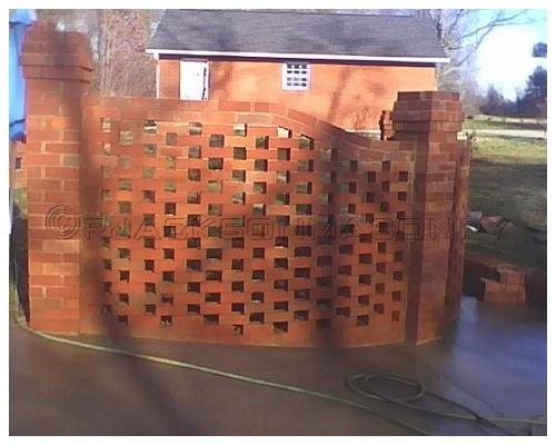 Gorgeous Privacy Brick Lattice Walls Lattice Wall