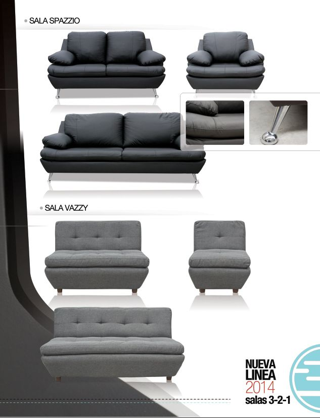 Sala spazio y sala vazzy de inlab muebles