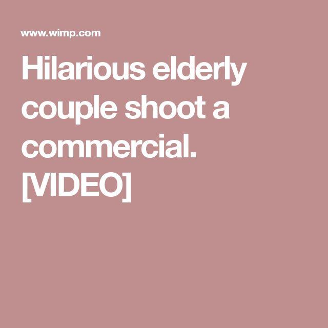 Hilarious elderly couple shoot a commercial. [VIDEO]